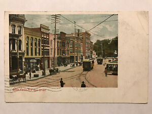 Glen-Falls-New-York-NY-Postcard-Glen-Street-Postmarked-March-19-1907