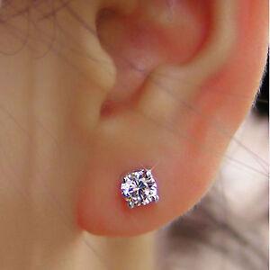 0.50 Carat Round Cut Real Diamond Engagement Earrings Platinum Womens Studs    eBay
