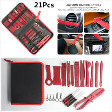 13x Red Nylon Fiber Auto Upholstery Molding Trim Interior Removal Install Tools