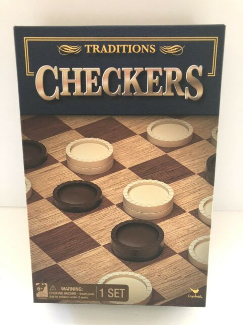 Checkers Set Includes Board Pieces and Instruction Sheet New Traditions Game NIB