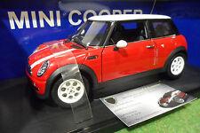 BMW MINI COOPER rouge/toit blanc 1/18 AUTOart 74828 voiture miniature collection