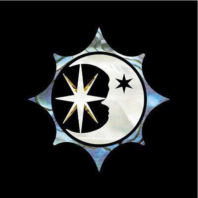 Sun, Moon and Star Symbol Inlay Sticker Decal Ukulele Guitar