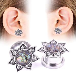 1Pair Stainless Steel Ear Tunnel Plugs Ear Gauges Ear Expander Body Piercing