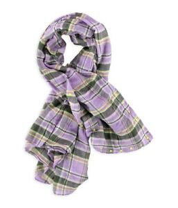 Aeropostale-Womens-Plaid-Oblong-Scarf-Wrap-Purple-One-Size