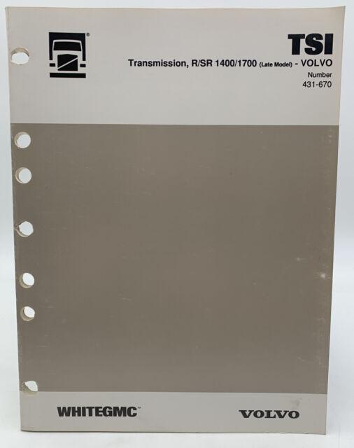 Volvo Transmission Manual Truck R Sr 1400 1700 Tsi