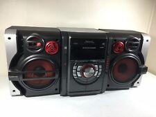 Item 4 Panasonic SA AK330 5 CD Bookshelf Stereo System Dual Cassette AM FM With Remote