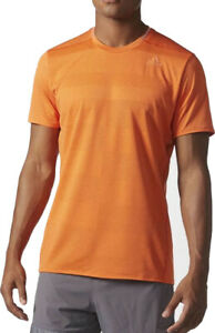 Details zu adidas Supernova Mens Running T Shirt Short Sleeve Top Orange Gym Sports Workout