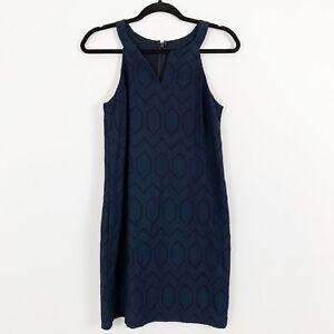 NEW-Banana-Republic-Womens-Sheath-Dress-Size-0-Blue-Eyelet-Lined-Sleeveless