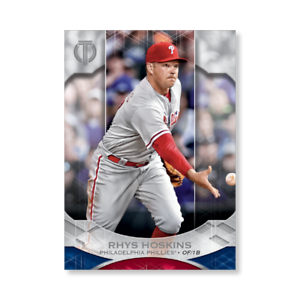 RHYS HOSKINS Phillies #79 #//49 Made 2019 Topps Tribute Base 5x7 SILVER