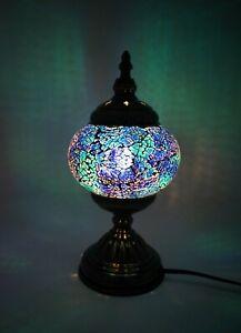 Turkish Moroccan Mosaic Bohemian Colorful Table Lamp