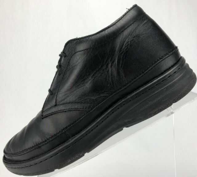 Drew Walking Shoes Comfy Keith Anti Impact Lace Up Ankle Boots Mens 10.5 M Black