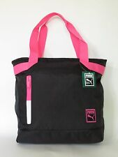 Puma Women's Black Gym School Active Polyester Large Shopper Tote Bag NEW