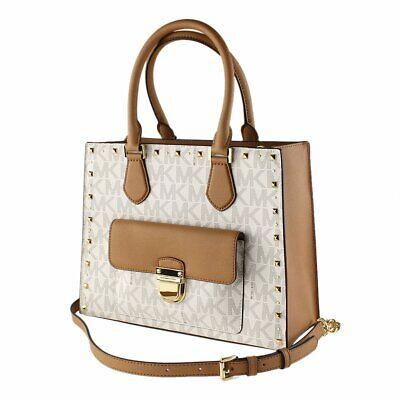 NWT Michael Kors 35F7GBDT6B VANILLA ACORN Handbags BRIDGETTE MSRP:458 191262298998 | eBay