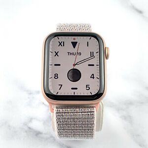Apple Watch Series 5 Gold 44/40mm Aluminum GPS + LTE Cellular Pink Nylon Loop