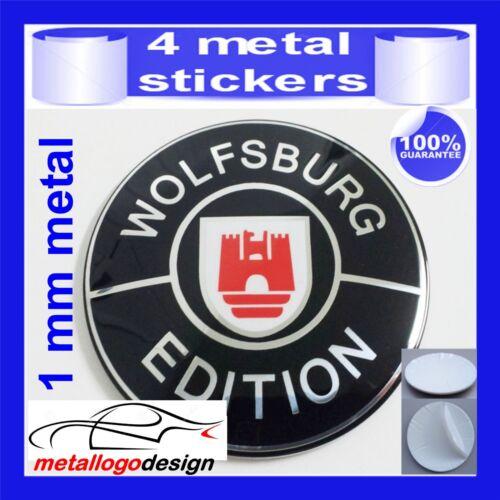 METAL STICKERS WHEELS CENTER CAPS Centro LLantas 4pcs WOLFSBURG 3