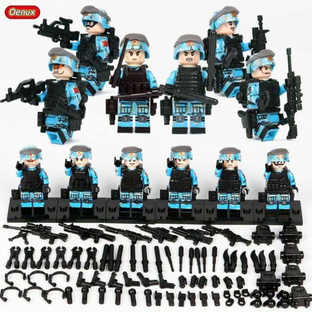 6pcs SWAT Soldier Army MILITARY Force Gun Building Blocks Bricks Figures legos