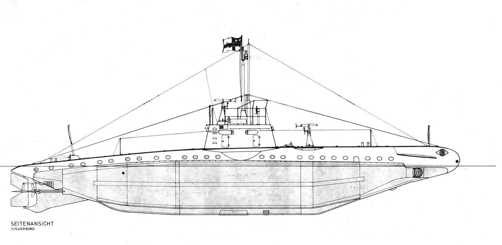 SM UB imperial 16, costas u-boot. marina imperial UB hasta 1920. m 1:32 modellbau plan 6fa904