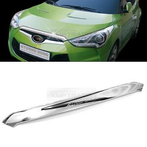 Chrome Front Hood Garnish Bonnet Molding Trim Cover for Hyundai Veloster 2012 2013 2014 2015 2016 2017