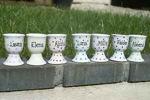 Image Is Loading Personalised Easter Gift Handpainted Porcelain Egg Cup Kids