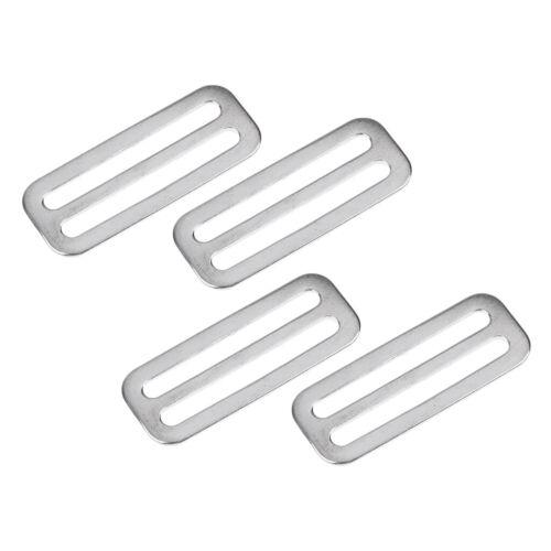 Edelstahl Gürtelschnalle Gurtband Schnalle 4er Set