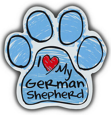 Scribble Paw Dog Magnets: I LOVE MY GERMAN SHEPHERD | Cars, Refrigerators