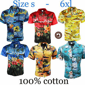 MENS-HAWAIIAN-SHIRT-STAG-BEACH-HAWAII-ALOHA-PARTY-SUMMER-HOLIDAY-FANCY-S-TO-6XL