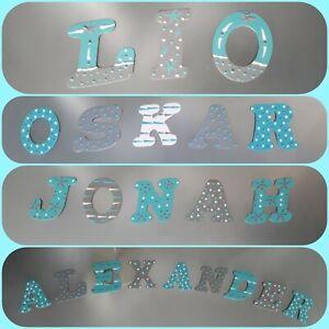 Buchstaben Holzbuchstaben Kinder Baby Name Kinderzimmer Tür Deko ...