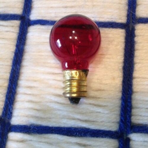 NEW 7w RED C7 round Rudolph the reindeer NOSE frostie santa CHRISTMAS LIGHT bulb