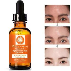 Vitamin-C-Serum-Acid-w-Hyaluronic-HA-Oz-Anti-Aging-E-Ferulic-Pure-Organic-New-S