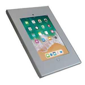 Anti-theft-iPad-9-7-034-Economy-Wall-Enclosure-Screw-Lock-Mount-Silver