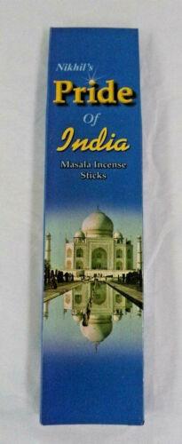 25 Gram Box You Pick How Many Nikhil/'s PRIDE OF INDIA Masala Incense Sticks