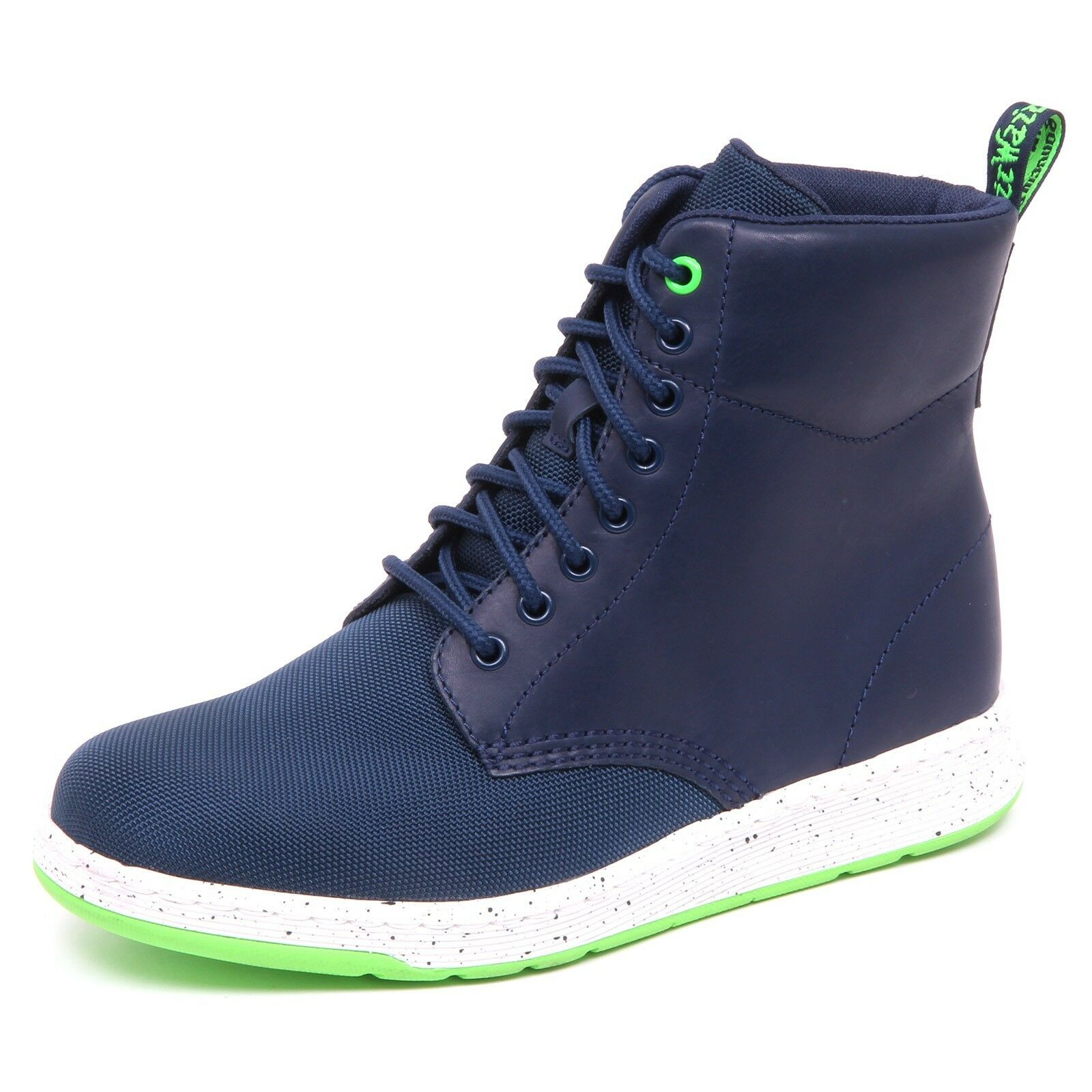 D8078 (without box) uomo sneaker uomo box) blu DR. MARTENS leather/tissue shoe man df3c23