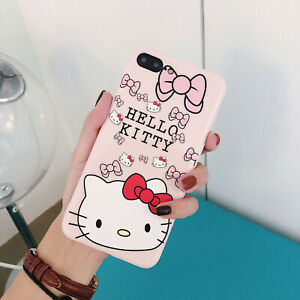 Hello-Kitty-iPhone-7-Plus-iPhone-8-Plus-Soft-Silicone-Pink-Case-w-Socket-Stand