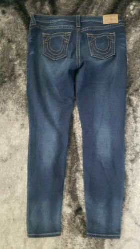 True Religion Women Jeans Size 34 Blue Denim Curvy