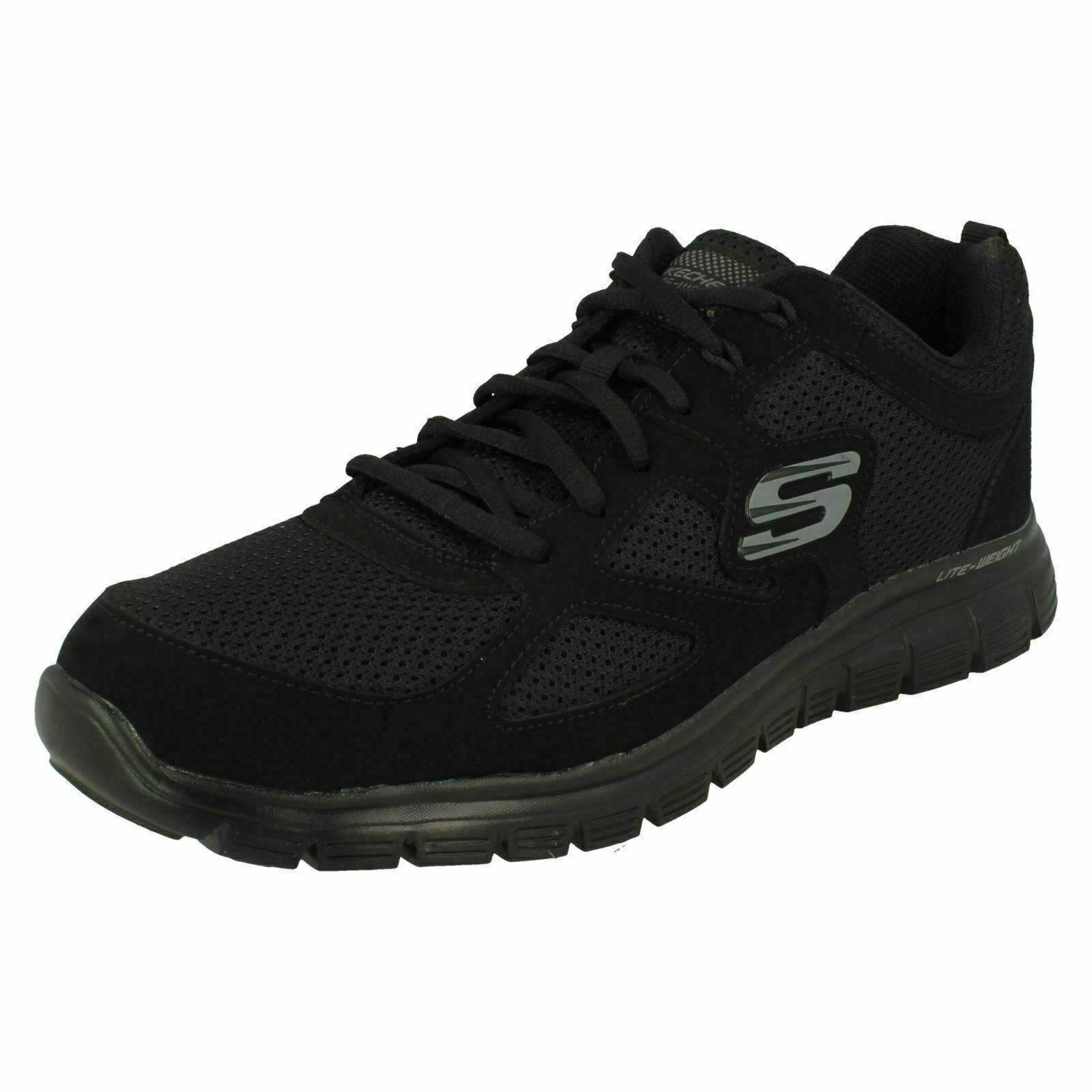 Mens Skechers Burns - Agoura 52635 Lace Up Sports Trainers