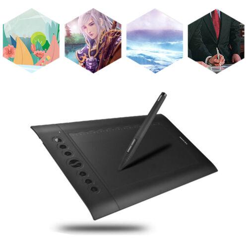 Huion Pro H610 USB Art Graphics Drawing Tablet Digital Painting Board+Pen HOT!!!
