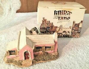 Lilliput-Lane-Bermuda-Cottage-en-Rosa-Con-Caja-inusual-1985