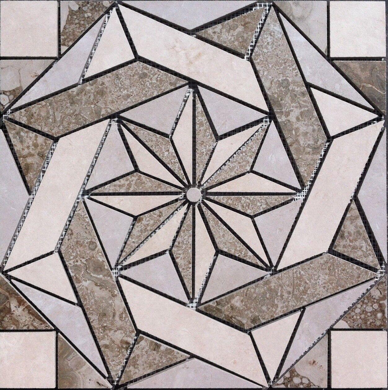 16 3 8  X 16 3 8  Tile Medallion - Daltile's Exquisite & Affinity tile series