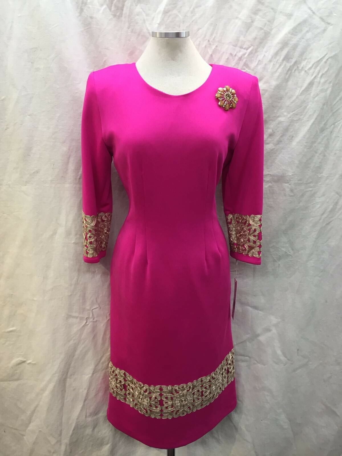LILY&TAYLOR DRESS NEW WITH TAG LENGTH 44  LINED NEW WITH TAG Größe 20 FUCHSIA