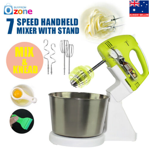 1 of 1 - 7 Speed Electric Hand Mixer Whipper/Strip Beater Food Powerful Appliances&Stand