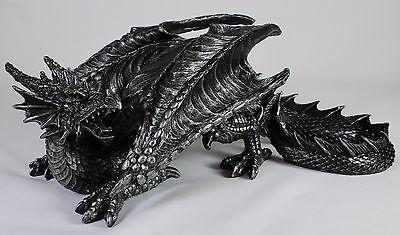 GOTHIC DRAGON STATUE Resin Desktop Figurine NEW Serpent Medieval Fantasy Monster