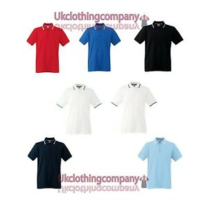 FRUIT-OF-THE-LOOM-HOMME-100-coton-bout-POLO-SPORTY-POLO-top-sizes-S-pour-XXXL