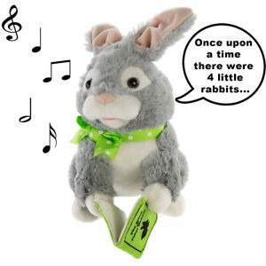 Storytelling Peter Rabbit Plush Talking Moving Animated Stuffed Animal Toy Gift