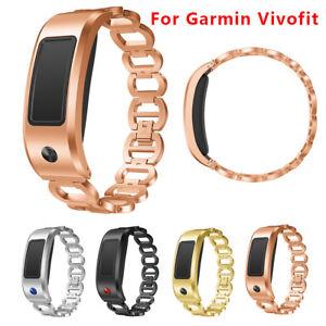 Remplacement-De-Luxe-Bracelet-Montre-Acier-Inoxydable-Bande-Bracelet-Pour-Garmin-Vivofit-2