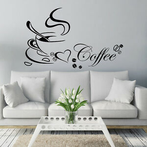 Image Is Loading Coffee Cup DIY Removable Art Vinyl Sticker Decal