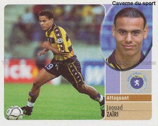 JAOUAD ZAIRI # MAROCCO FC.SOCHAUX VIGNETTE STICKER  PANINI FOOT 2003