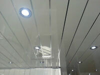 12 Twin Chrome V Bathroom Ceiling Panels - Pvc Ceiling Panels For Bathrooms