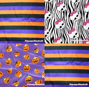 Image Is Loading Halloween Purple Orange Stripe Pumpkin Zebra Skull Craft