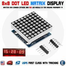 Max7219 Red Dot Matrix 8x8 88 Led Display Module Arduino Mcu Diy Raspberry Pi