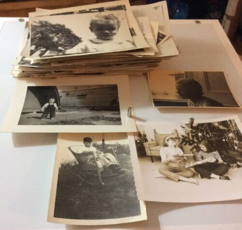 Group Of Vintage Children Photographs 120+